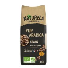 Ekologiškos skrudintos kavos pupelės NATURELA, 1 kg
