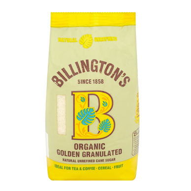 Ekologišškas nerafinuotas cukranendrių cukrus Golden Granulated BILLINGTON'S, 500 g