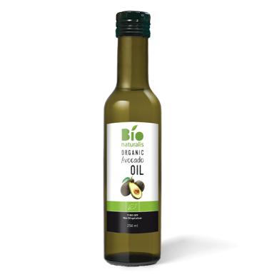 Ekologiškas šalto spaudimo avokadų aliejus BIONATURALIS, 250 ml